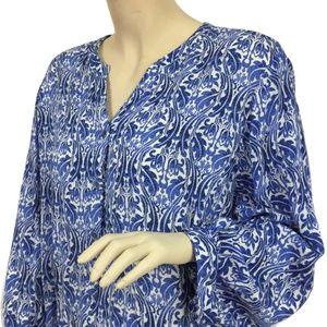 Grand & Greene Women's Blue paisley Blouse Top